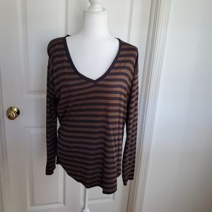 Madewell High-Low Stripped Top
